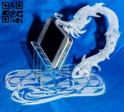 Dragon iPhone Stand E0012350 file cdr and dxf free vector download for laser cut
