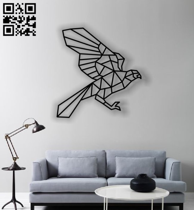 Eagle Mural E0012449 file cdr and dxf free vector download for laser cut plasma