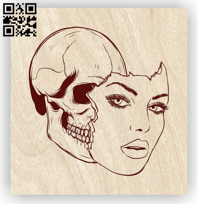 Face E0012271 file cdr and dxf free vector download for laser engraving machines