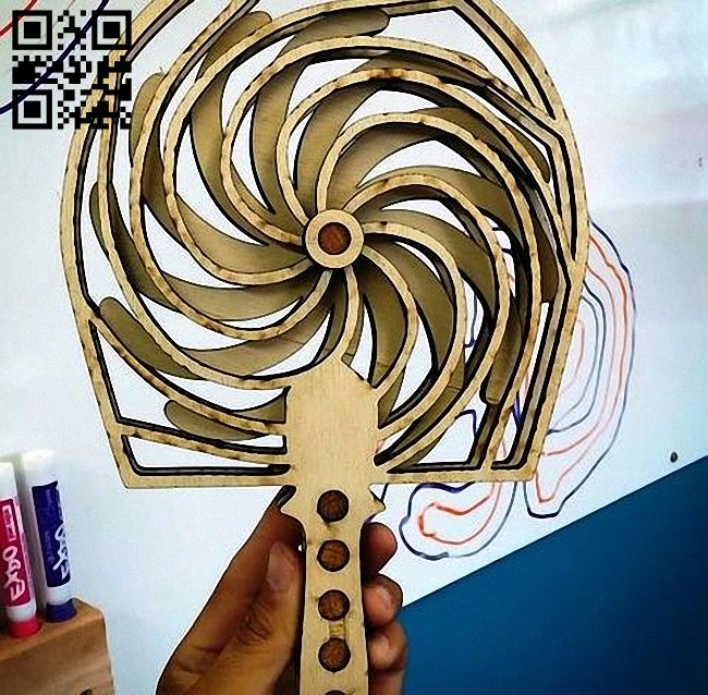 Fan spinning E0012531 file cdr and dxf free rvector download for laser cut