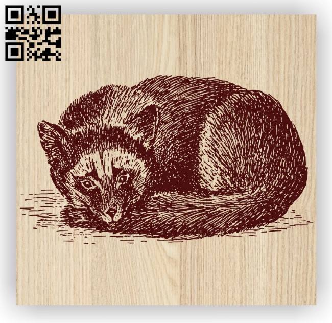 Fox E0012369 file cdr and dxf free vector download for laser engraving machines