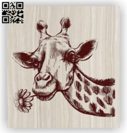Giraffe E0012415 file cdr and dxf free vector download for laser engraving machines