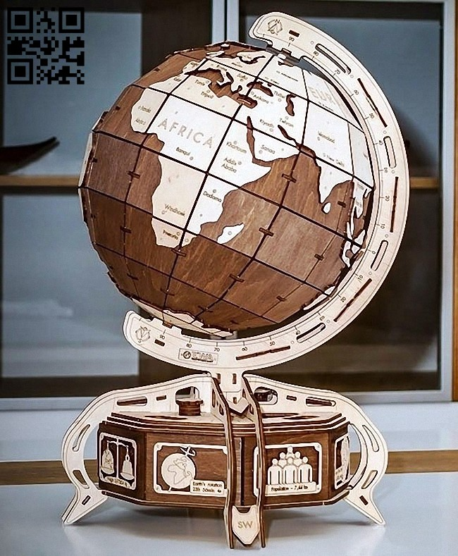 Globe E0012425 file cdr and dxf free vector download for laser cut