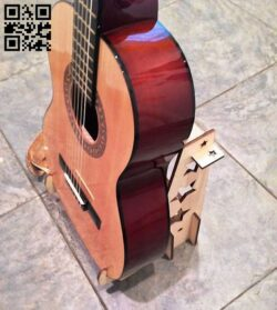 Guitar Stand E0012357 file cdr and dxf free vector download for laser cut