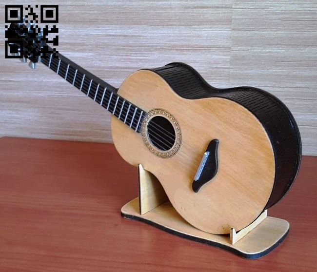 Guitar box E0012321 file cdr and dxf free vector download for laser cut