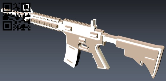 Gun E0012500 file cdr and dxf free vector download for laser cut