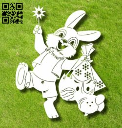 Hare and wolf E0012258 file cdr and dxf free vector download for laser engraving machines