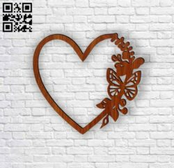 Heart photo frames E0012335 file cdr and dxf free vector download for Laser cut