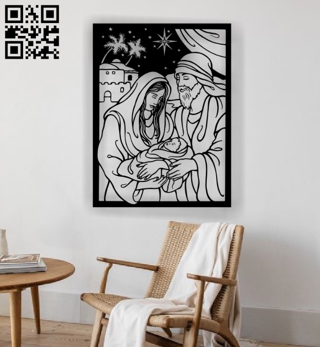 Holy family E0012302 file cdr and dxf free vector download for laser engraving machines