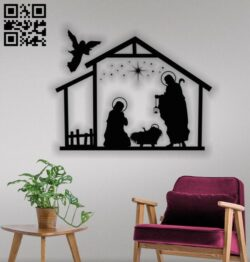 Holy family E0012338 file cdr and dxf free vector download for laser engraving machines
