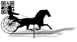 Horse wagon weather wind vane E0012445 file cdr and dxf free vector download for laser cut plasma