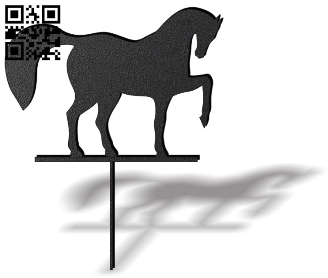 Horse weather wind vane E0012444 file cdr and dxf free vector download for laser cut plasma