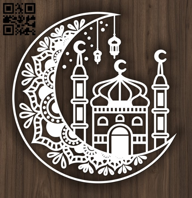 Islamic art E0012512 file cdr and dxf free vector download for laser cut