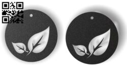 Leaf earrings E0012294 file cdr and dxf free vector download for laser cut