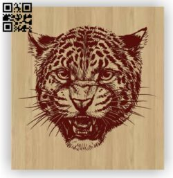 Leopard head E0012548 file cdr and dxf free vector download for laser engraving machines