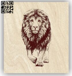 Lion E0012552 file cdr and dxf free vector download for laser engraving machines