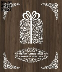 Merry Christmas and happy new year E0012405 file cdr and dxf free vector download for laser cut