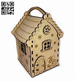 New year box E0012267 file cdr and dxf free vector download for laser cut