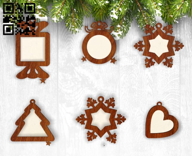 New year photo frames E0012505 file cdr and dxf free vector download for laser cut