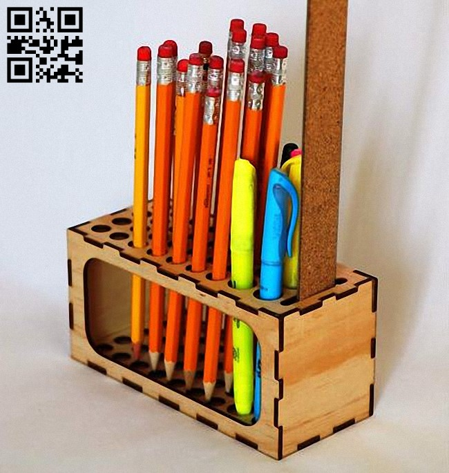 Pencil Organizer E0012562 file cdr and dxf free vector download for laser cut