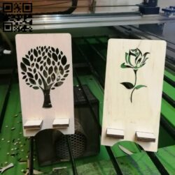 Phone stand E0012314 file cdr and dxf free vector download for laser cut