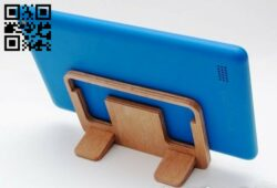 Phone stand E0012564 file cdr and dxf free vector download for laser cut