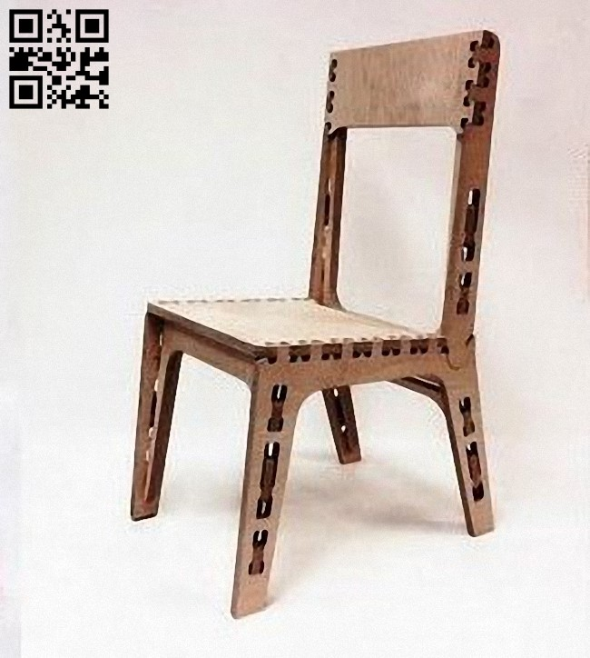 Plywood chair E0012554 file cdr and dxf free vector download for laser cut