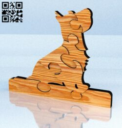 Puzzle Dog E0012278 file cdr and dxf free vector download for laser cut