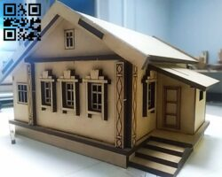 Rural house E0012433 file cdr and dxf free vector download for laser cut
