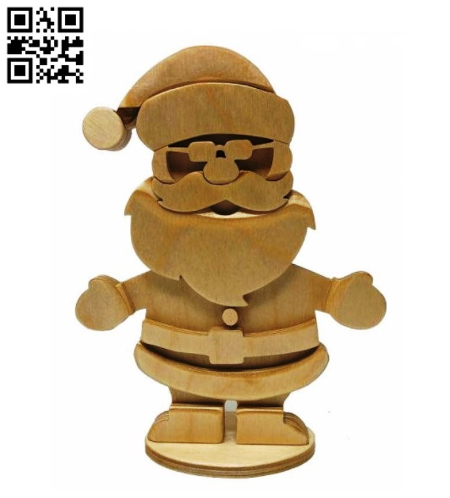 Santa E0012478 file cdr and dxf free vector download for laser cut