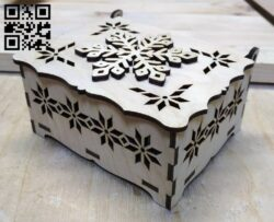 Snowflake Box E0012374 file cdr and dxf free vector download for laser cut