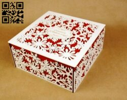 Snowflake box E0012315 file cdr and dxf free vector download for laser cut