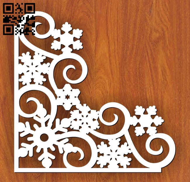 Snowflake corner E0012479 file cdr and dxf free vector download for laser cut