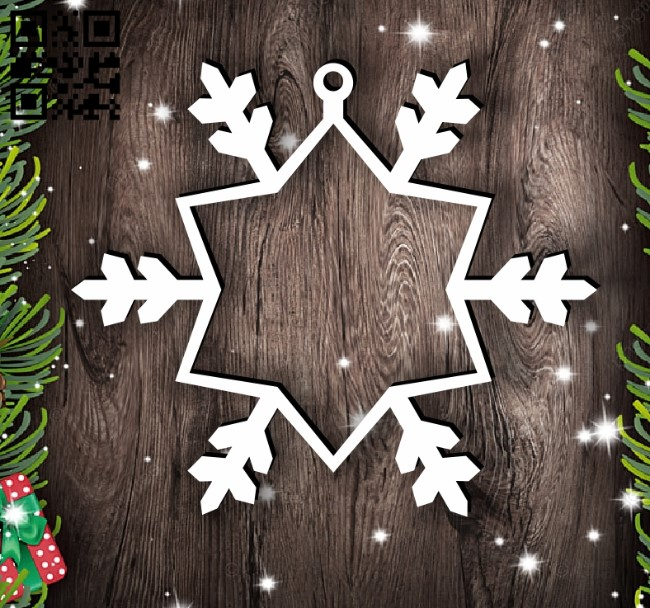 Snowflake photo frame E0012484 file cdr and dxf free vector download for laser cut