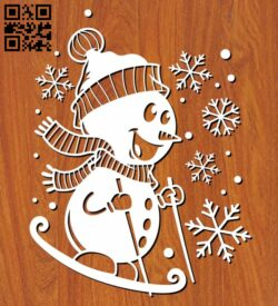 Snowman E0012509 file cdr and dxf free vector download for laser cut