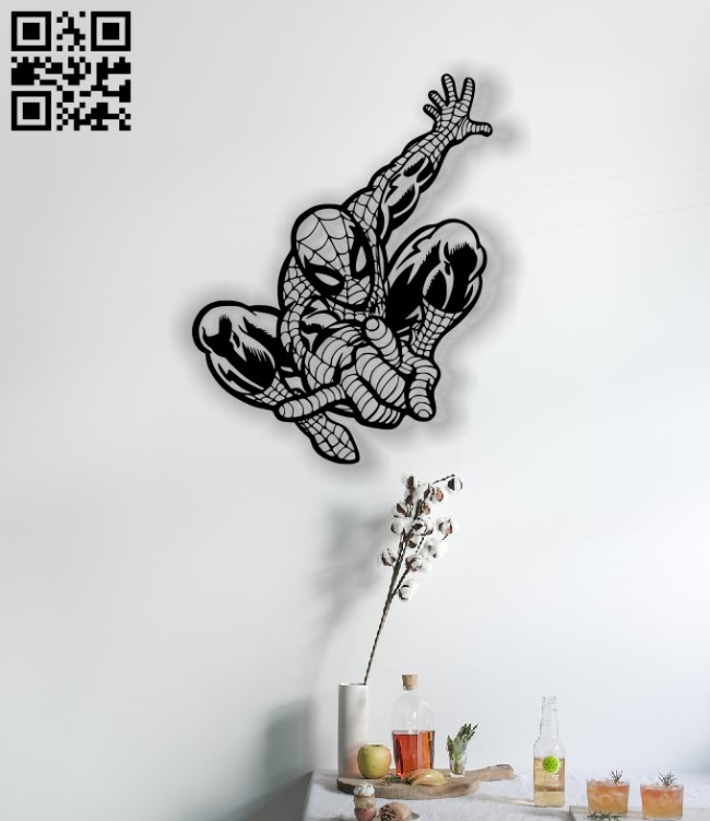 Spiderman panel E0012541 file cdr and dxf free vector download for laser cut plasma