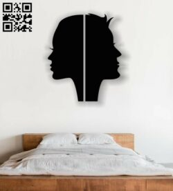 Two faces E0012427 file cdr and dxf free vector download for laser cut plasma