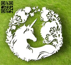 Unicorn E0012272 file cdr and dxf free vector download for laser cut plasma