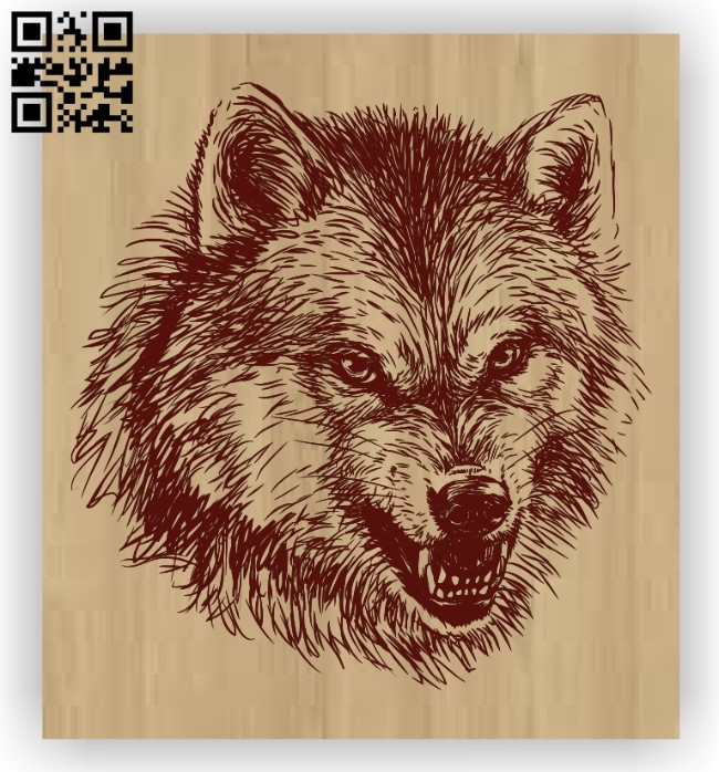 Wolf E0012418 file cdr and dxf free vector download for laser engraving machines