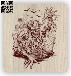 Zombie E0012417 file cdr and dxf free vector download for laser engraving machines