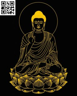 3D illusion led lamp Buddha E0012871 file cdr and dxf free vector download for laser engraving machines