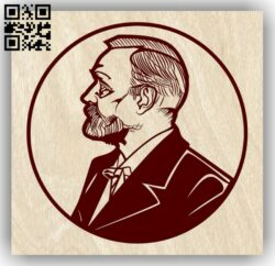 Alfred Nobel E0012831 file cdr and dxf free vector download for laser engraving machines