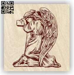 Angel with cross E0012720 file cdr and dxf free vector download for laser engraving machines