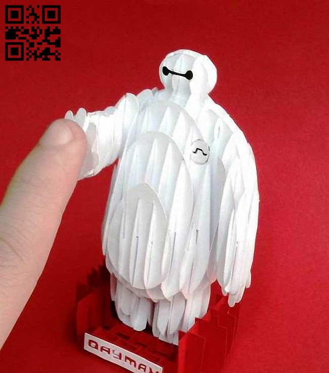 Baymax E0012789 file cdr and dxf free vector download for laser cut