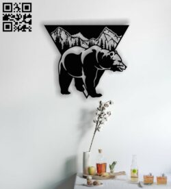 Bear E0012690 file cdr and dxf free vector download for laser cut plasma