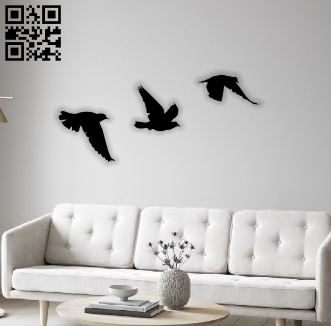 Birds E0012679 file cdr and dxf free vector download for laser cut plasma