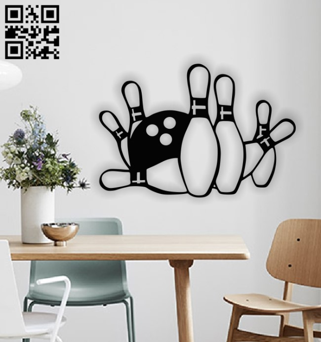 Bowling Panel E0012934 file cdr and dxf free vector download for laser cut