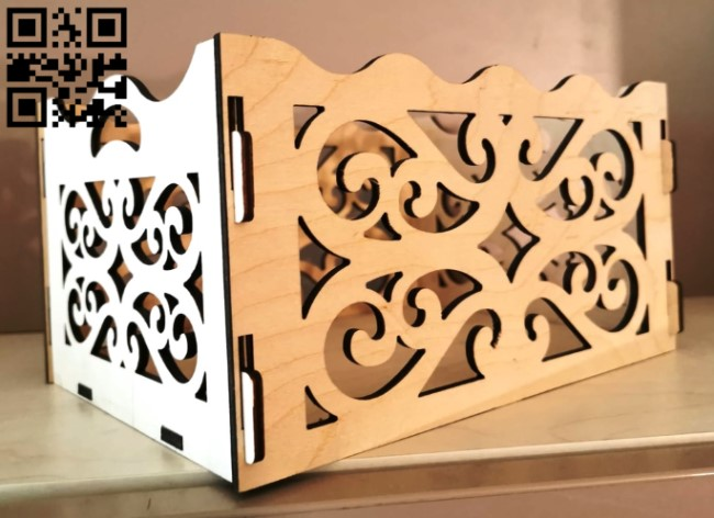 Box E0012625 file cdr and dxf free vector download for laser cut
