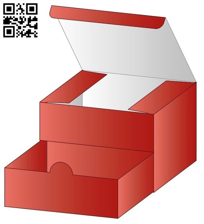 Box with drawer E0012695 file cdr and dxf free vector download for laser cut