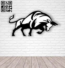 Bull E0012786 file cdr and dxf free vector download for laser cut plasma